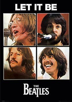 Beatles - let it be Affiche