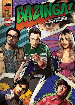 BIG BANG THEORY - comic bazinga Affiche
