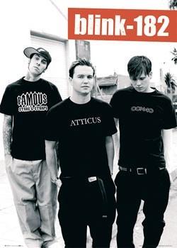 Blink 182 (B&W) Affiche