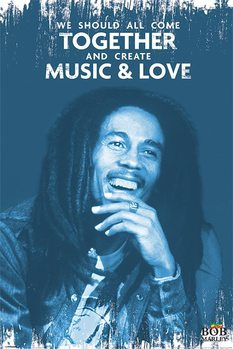 Bob Marley - Music and Love Affiche
