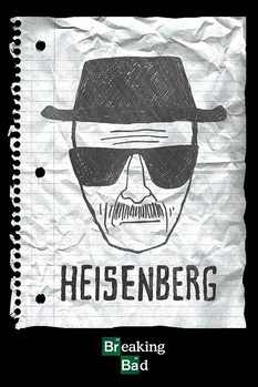 BREAKING BAD - heisenberg want Affiche