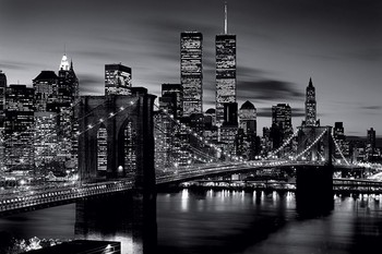 Brooklyn bridge (B&W) Affiche