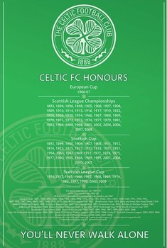 Celtic - honours Affiche