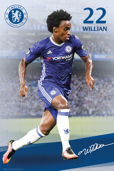 Chelsea - Willian 16/17 Affiche