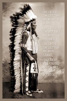 CHIEF WHITE CLOUDS SPEAK Affiche