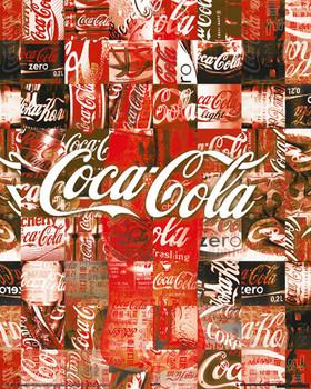 COCA-COLA - patchwork Affiche