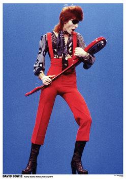 David Bowie - Top Pop Studios Holland 1974 Affiche