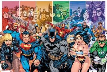DC COMICS - justice league characters Affiche