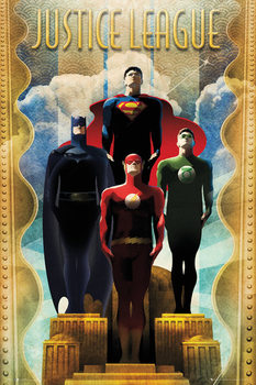 DC Comics - Team Art Deco Affiche
