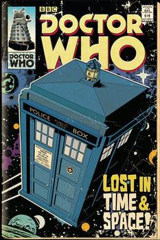 Doctor Who - Tardis Comic Affiche