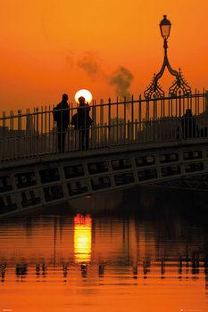 Dublin - Halfpenny Bridge Portrait Affiche