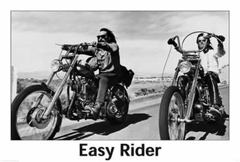 EASY RIDER - riding motorbikes (B&W) Affiche