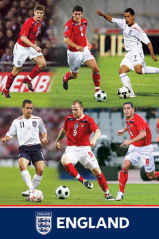 England F.A - montage Affiche