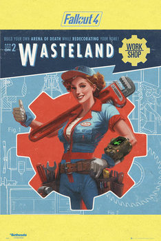 Fallout 4 - Wasteland Affiche