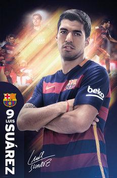 FC Barcelona - Suarez 15/16 Affiche