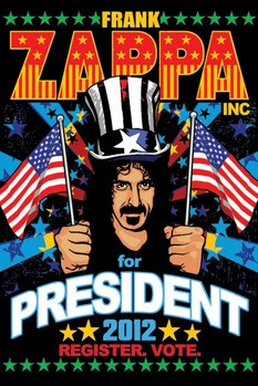 FRANK ZAPPA - for president Affiche