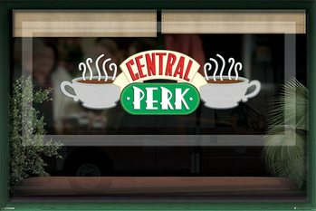 FRIENDS - central perk window Affiche