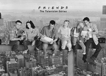 Friends - Déjeuner au sommet d'un gratte-ciel Affiche