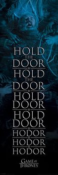 Game of Thrones - Hold the door Hodor Affiche