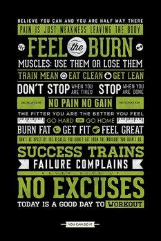 Gym - Motivational Affiche