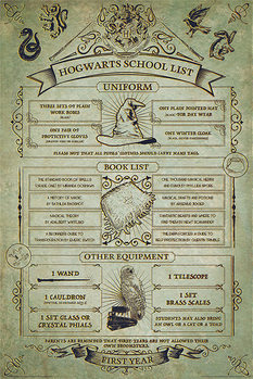 Harry Potter - Hogwarts School List Affiche