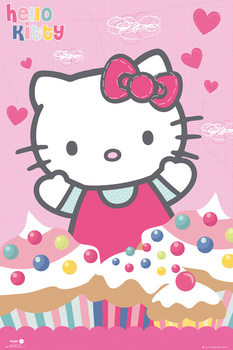 Hello Kitty - Cupcakes Affiche