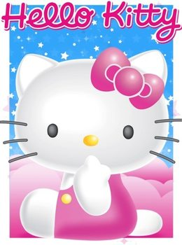 Hello Kitty - Stars S.O.S Poster en 3D