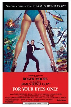 JAMES BOND 007 - for your eyes only Affiche