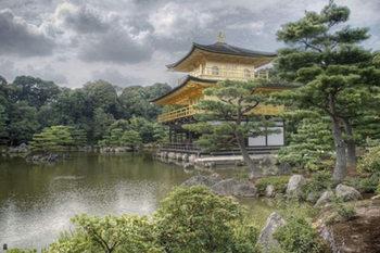 Japon Kinkakuji- temple du pavillon d'or Affiche