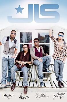 JLS - beach hut Affiche