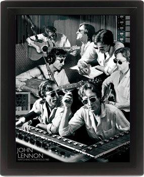 JOHN LENNON - watching Poster en 3D encadré