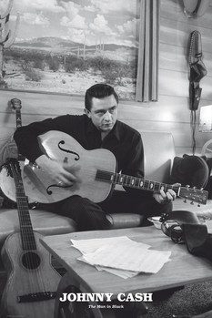 Johnny Cash - man in black Affiche
