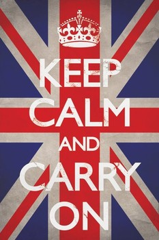 Keep calm and carry on - union Affiche