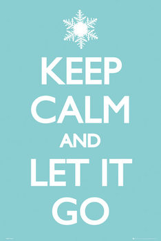 Keep Calm and Let it Go Affiche