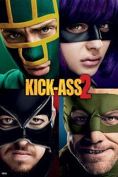 KICK ASS 2 - cast Poster