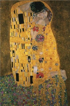 Klimt - the kiss Affiche