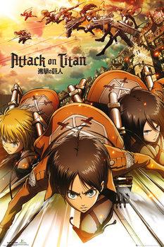 L'Attaque des Titans (Shingeki no kyojin) - Attack Affiche