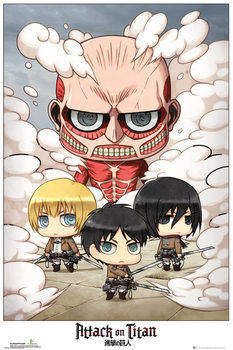 L'Attaque des Titans (Shingeki no kyojin) - Chibi Group Affiche