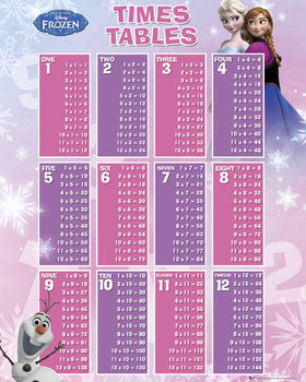 La Reine des neiges - Times Table Affiche