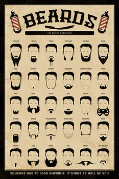 Les Barbes - The Art of Manliness Affiche