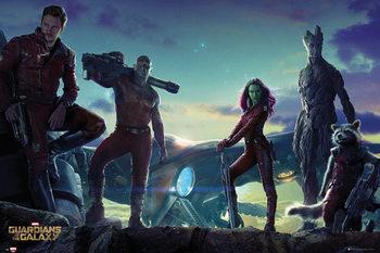 Les Gardiens de la Galaxie - Group Landscape Poster