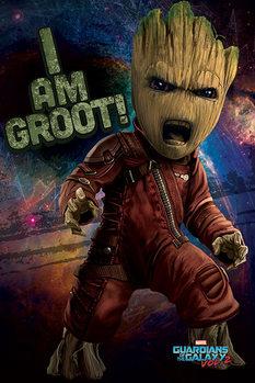 Les Gardiens de la Galaxie Vol. 2 - Angry Groot Affiche