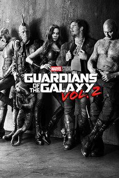 Les Gardiens de la Galaxie Vol. 2 - Black & White Teaser Affiche