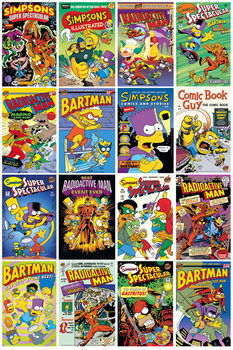 LES SIMPSON - SIMPSONS - Comic Covers Poster