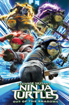 Les tortues ninja 2 - Group Affiche