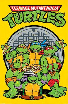 Les tortues ninja - Retro Affiche