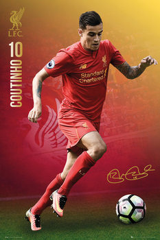 Liverpool - Coutinho 16/17 Affiche