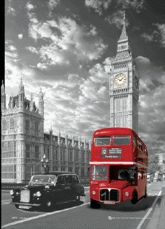 Londres - big ben & bus Poster en 3D