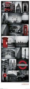Londres - collage Affiche