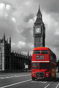 Londres - red bus Affiche